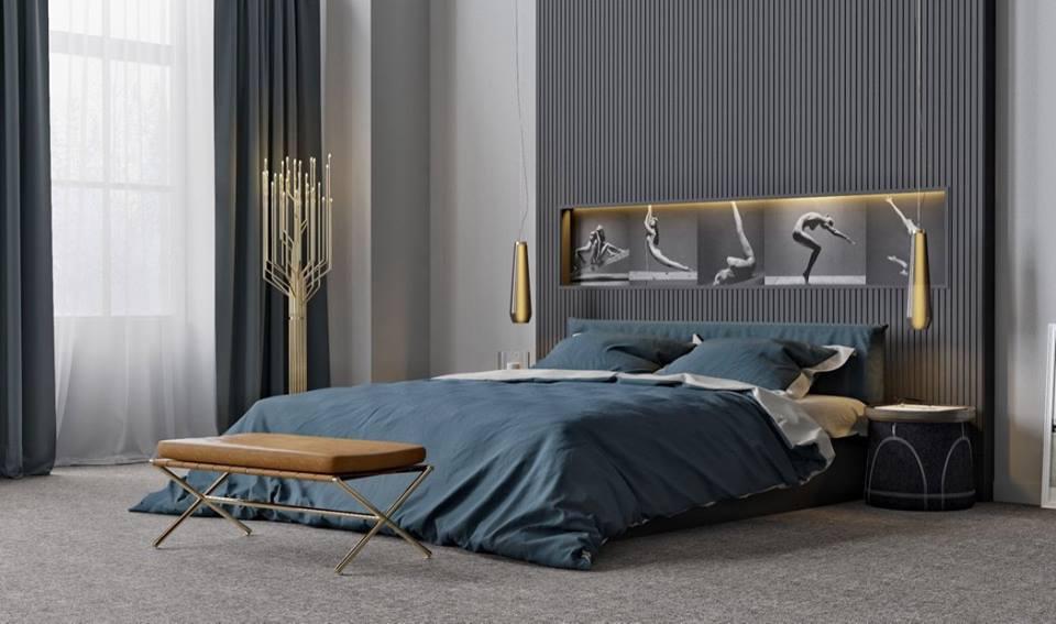 Poze dormitoare moderne. Colaj nou
