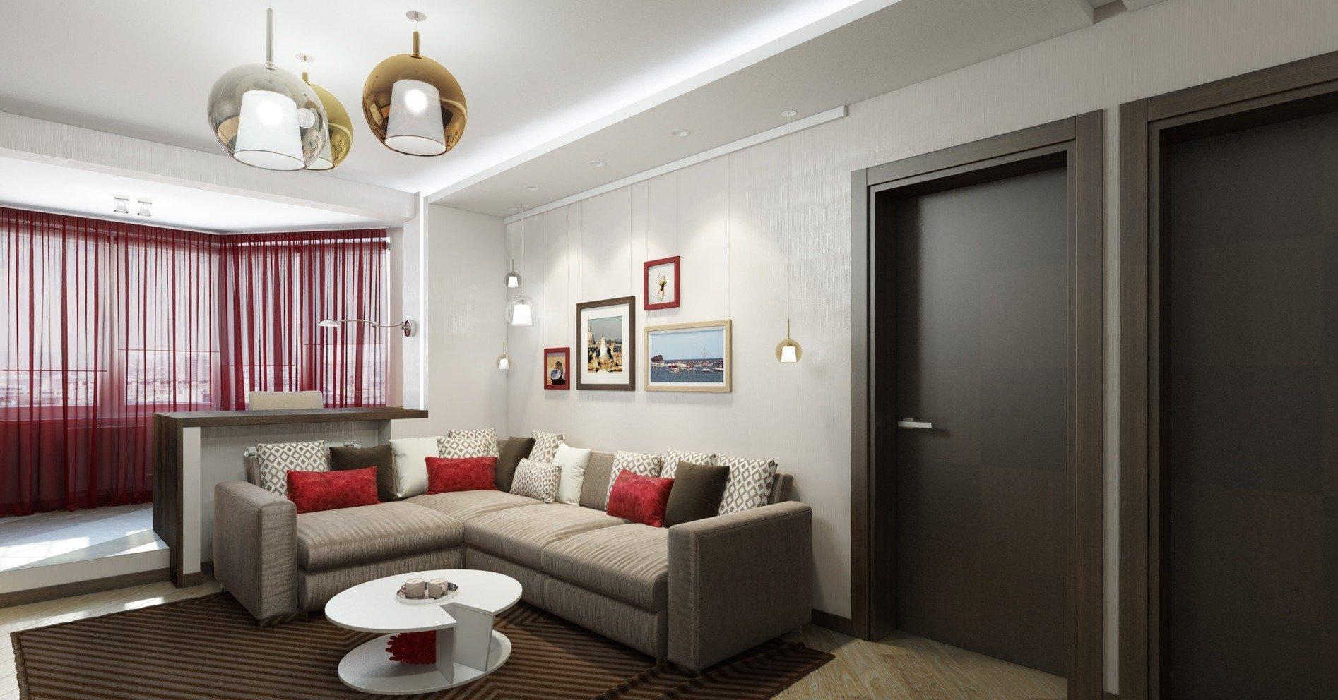 Un design reusit al unui apartament cu doua camere de 40 mp